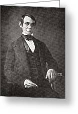 Abraham Lincoln, 1809 – 1865.  16th President Of The United States Of America.  From Abraham Greeting Card