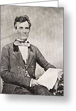 Abraham Lincoln, 1809 – 1865, Seen Here In 1854.  16th President Of The United States Of America Greeting Card