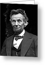 Abraham Lincoln 2  Alexander Gardner Photo Washington Dc  February  1865 Greeting Card