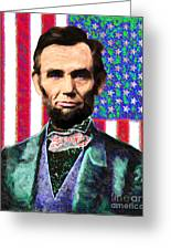 Abraham Lincoln 20130115 Greeting Card by Wingsdomain Art and Photography