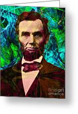 Abraham Lincoln 2014020502p145 Greeting Card by Wingsdomain Art and Photography