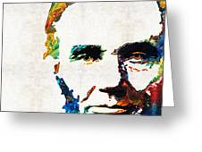 Abraham Lincoln Art - Colorful Abe - By Sharon Cummings Greeting Card