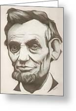 Abraham Lincoln Drawing Greeting Card