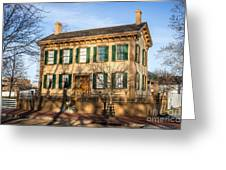 Abraham Lincoln Home In Springfield Illinois Greeting Card