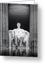 Abraham Lincoln Memorial Greeting Card