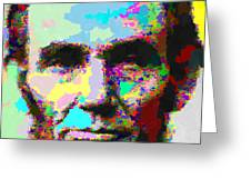 Abraham Lincoln Portrait - Abstract Greeting Card