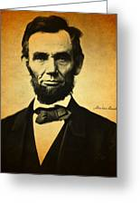 Abraham Lincoln Portrait And Signature Greeting Card
