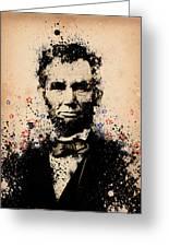 Abraham Lincoln Splats Color Greeting Card