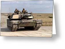 Abrams M1a1 Main Battle Tank Greeting Card