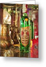 Absinthe Bottle In Bar Greeting Card