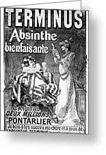 Absinthe Poster, 1892 Greeting Card
