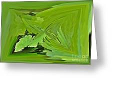 Abstract - Rectangle - Linear Verte Greeting Card