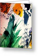 Abstract - Splashes Of Color Greeting Card