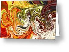 Abstract 127 Greeting Card by Carol Sullivan