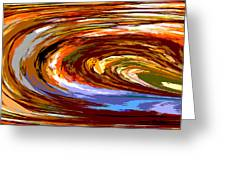 Abstract #140814 - Inside The Pipeline Greeting Card