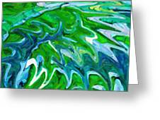 Abstract 16 Greeting Card by Kenny Francis