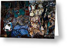 Abstract 1785 Greeting Card