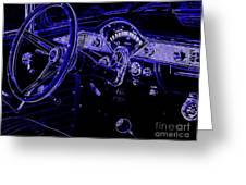 Abstract 1955 Chevy Bel Air  Greeting Card
