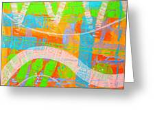 Abstract  23614   Diptych  I  Greeting Card