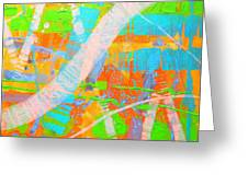 Abstract 23614  Diptych  II Greeting Card