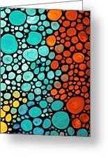 Mosaic Art - Abstract 3 - By Sharon Cummings Greeting Card