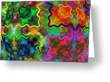 Abstract 42 Greeting Card