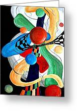 Abstract 525-11-13 Marucii Greeting Card