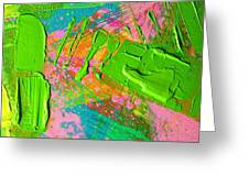 Abstract 6814 Diptych Cropped Xvi  Greeting Card