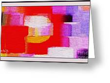 Abstract 892 Greeting Card