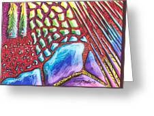 Abstract Animal Print Greeting Card