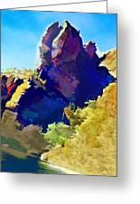 Abstract Arizona Mountain Peak In Autumn Greeting Card