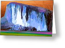 Abstract Arizona Mountains At Icy Dawn Greeting Card