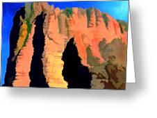 Abstract Arizona Mountains At Sunset Greeting Card