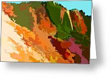 Abstract Arizona Mountains In The Afternoon  Greeting Card