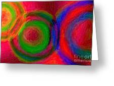 Separate Yet Together - Abstract Art  Greeting Card