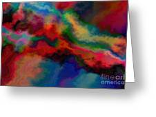 Intrigued - Abstract Art  Greeting Card