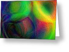Journey - Square Abstract Art  Greeting Card