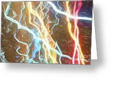 Light Painting - Abstract Art 2 Greeting Card