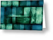 abstract art Blue Dream Greeting Card by Ann Powell