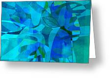 abstract - art- Blue for You Greeting Card