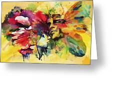 Abstract Art Greeting Card by Catf