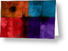 abstract - art- Color Block Square Greeting Card