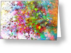 abstract art COLOR SPLASH on Square Greeting Card