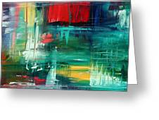 Abstract Art Colorful Original Painting Bold And Beautiful By Madart Greeting Card