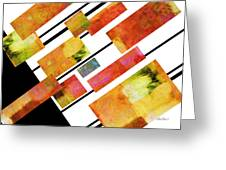 abstract art Homage to Mondrian Greeting Card