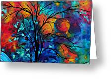 Abstract Art Landscape Tree Bold Colorful Painting A Secret Place By Madart Greeting Card