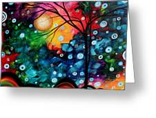 Abstract Art Landscape Tree Painting Brilliance In The Sky Madart Greeting Card