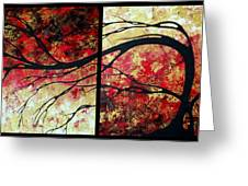 Abstract Art Original Landscape Painting Bring Me Home By Madart Greeting Card by Megan Duncanson