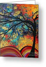 Abstract Art Original Landscape Painting Go Forth II By Madart Studios Greeting Card