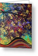 Abstract Art Original Landscape Painting Go Forth IIi By Madart Studios Greeting Card